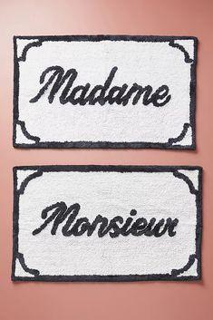 Monsieur & Madame Bath Mats, Set of 2 by Anthropologie in Black, Zen Bathroom, Simple Bathroom, Bathroom Rugs, Bath Rugs, Bathroom Shelves, Bathroom Ideas, Bathroom Designs, Bathroom Organization, Bathroom Mirrors
