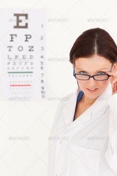 Female optician with glasses in office ...  20-24 years, Caucasian appearance, Young Women, aid, appearance, assistant, beauty, brown, care, clinic, coat, consultant, cure, doctor, eyes, glasses, gorgeous, health, healthcare, hospital, insurance, job, letter, medical, medicine, no people, number, optical, portrait, prescription, profession, professional, reliable, science, showing, sick, sight, smile, specialist, technology, test, treatment, trustworthy, uniform, woman, work