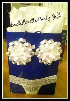 Cute Bachelorette party gift idea! Love the clever wrapping! #weddinggifts