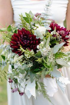 Colorado Fall Mountain Wedding Bridal Herb Bouquet.   Sage, Rosemary, Thyme, Eucalyptus