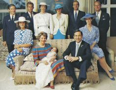 July 1986 Prince Philippos of Greece is baptized in London. His godparents include: Diana, Princess of Wales; Infanta Elena & King Juan Carlos of Spain and Princess Benedikte of Denmark. Prince And Princess, Princess Of Wales, Princess Charlotte, Baby Prince, Princesa Diana, Adele, Greek Royalty, Greek Royal Family, Lady In Waiting
