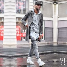 Champaris Urban Street Fashion, Modern Mens Fashion, Trendy Fashion, Man Dressing Style, Hip Hop Fashion, Boy Fashion, Fashion Outfits, Fashion Menswear, Men's Style
