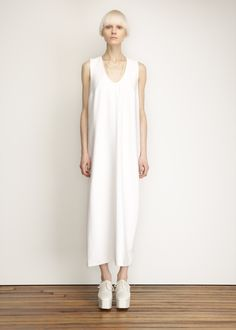 Totokaelo - Suzanne Rae White Long Tank Dress