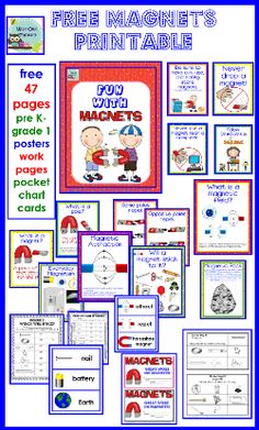free magnets printable pages- grade 2 science