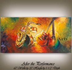 Music Violin Art Abstract Guitar Painting - Original Painting - Violin, Drum, Cello Wall Art Home Decor, Handmade Wall Hanging Gift Violin Painting, Violin Art, Art Pop, Music Canvas, Canvas Art, Original Art, Original Paintings, Modern Pop Art, Jazz Art