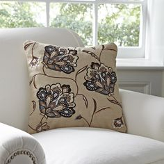 Birch Lane Odette Embroidered Pillow Cover | Birch Lane