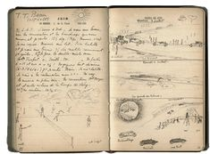 I love handwritten dairies:  Jacques Henri Lartigue's Journal, mardi 30 juin 1914 (dimensions: 10,5x16,5cm)