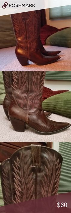 Penny Loves Kenny cowboy boots Gently worn authentic leather boots. Penny Loves Kenny Shoes Heeled Boots