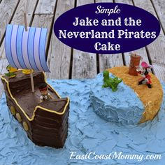 Jake and the Neverland Pirates Cake - surprisingly easy! (Step-by-step tutorial included.)