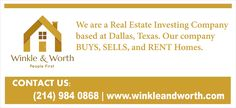 We Are A Real Estate Investing Company.  Our company buys, sells, and rents homes. We will not be acting as your real estate agent or broker if we buy your house, sell you a house, or rent you a home. We are excited to potentially work with you directly OR if you are represented by an agent or broker. We are focused on improving neighborhoods and redeveloping areas that we work in. If you have additional questions on agencies please contact your local real estate commission.