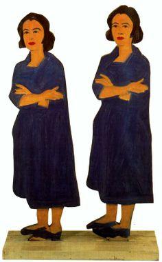 Ada Ada. 1959. Alex Katz (nació en Brooklyn, 24 de 7 de 1927), pintor, es uno de los precursores del arte pop. Ingresó en 1946 en la Cooper Union School of Art and Architecture.Su obra caracteriza por sus composiciones planas, es conocido por sus siluetas o 'cutouts', retratos pintados sobre madera recortada, que lleva realizando desde los años 60. Su obra esta en el MoMA, el Whitney Museum, el Metropolitan Museum, el Centre Georges Pompidou, la Tate Gallery o el Museo Reina Sofía.