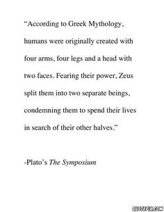 According the Greek Mythology.
