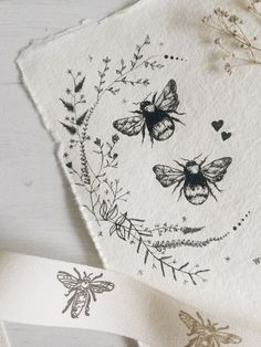 Bee tattoo wildflower illustration bumblebee wreath