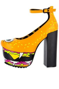 Iron-Fist-Shoes-NIB-Vegan-Super-Platform-Orange-Cyclops-Hamburger-Heels