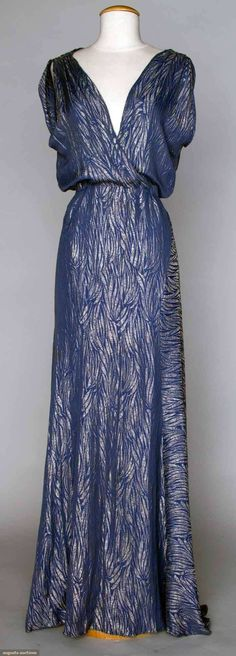 1930s cocktail gown evening dress old hollywood glamour