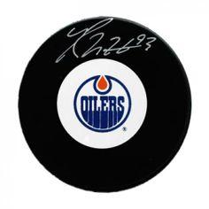 Ryan Nugent-Hopkins Signed Hockey Puck #SportsMemorabilia #EdmontonOilers Hockey Puck, Edmonton Oilers, Bmw Logo, Signs, Sports, Hs Sports, Novelty Signs, Sign, Sport