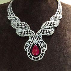 """Where Diamonds Belong"" #Nsouli #jewellery #diamonds #luxury #women #djwe #doha #qatar"