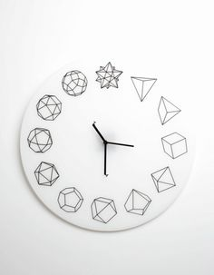 themadeshop:    Solid Ho clock by Paula Collective
