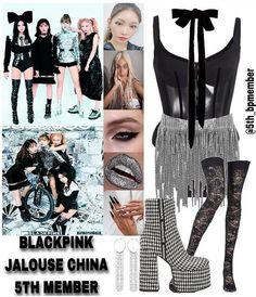 Blackpink Fashion, Kpop Fashion Outfits, Girls Fashion Clothes, Stage Outfits, Dance Outfits, Fall Outfits, Cute Outfits, Fashion Design, Bts Inspired Outfits
