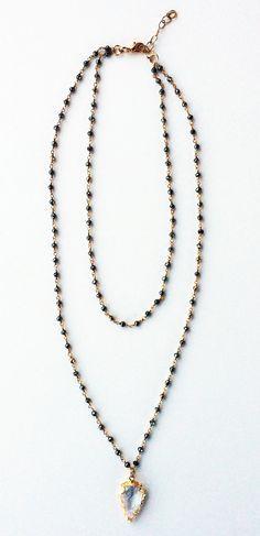 DOUBLE LENGTH ARROWHEAD NECKLACE #necklace #searchub