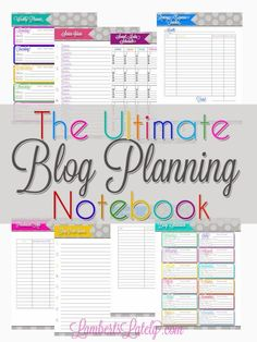 Everything printable you could need to keep your blog organized...all free printables!