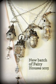 Bronze and sterling fairy castle pendant by EAdornments on Etsy
