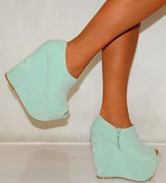 shoes shoes heels wedges mint blue pastel cute