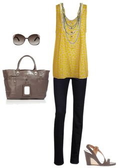 summer outfit... SO cute.  Except I would have to find a different colored shirt.  Yellow is NOT a good color on me.