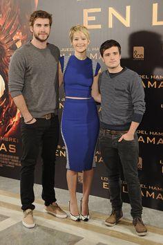 Jennifer Lawrence presentó 'Los juegos del hambre: En llamas' con Liam hemsworth y Josh Hutcherson