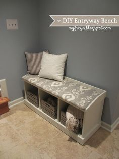 Chad and Elana Frey: DIY Entryway Bench #Home-Decor