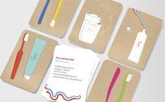 Toothbrush-tales dentist card