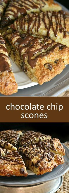 The perfect scone with the most beautiful crunchy sugar crusted top. Tender and full of chocolate chips, these Chocolate Chip Scones will seriously be the best scone you've ever had! By @yumm