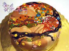 """water serpents by Gustav Klimt"" cake"