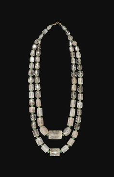 A ROMAN ROCK CRYSTAL BEAD NECKLACE CIRCA 2ND-4TH CENTURY A.D.