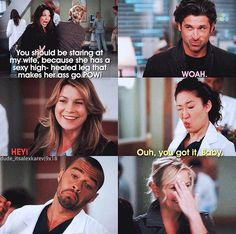 I love little moments like this where Grey's is not serious and no one is dying