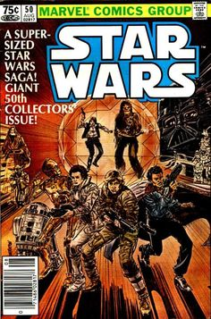 Star Wars #50, August 1981, cover by Tom Palmer. Love love LOVE the Marvel Star Wars series!!