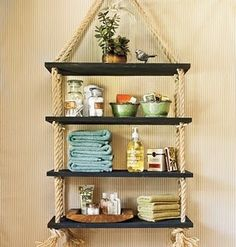 DIY shelves #rope