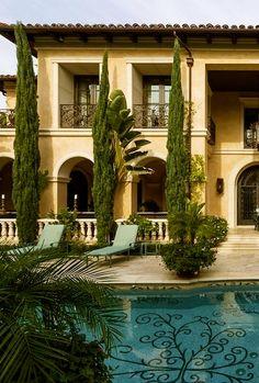 Ah the Italian cypresses. Love them!  #PinMyDreamBackyard