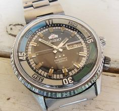 Rare Vintage Orient King Diver Automatic 21 Jewels Men's Wrist Watch Wotking Japanese Watch Retro Watch Collectible Watch Gift for Men Army Watches, Retro Watches, Vintage Watches, Rolex Watches, Watches For Men, All Stainless Steel, Antique Items, Unique Vintage, King