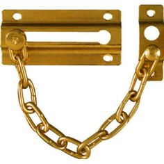 Chrome Chain Door Guard Latch Security Lock Cabinet Latches Slide ...