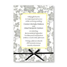 Passionate Blooms Wedding Invitations