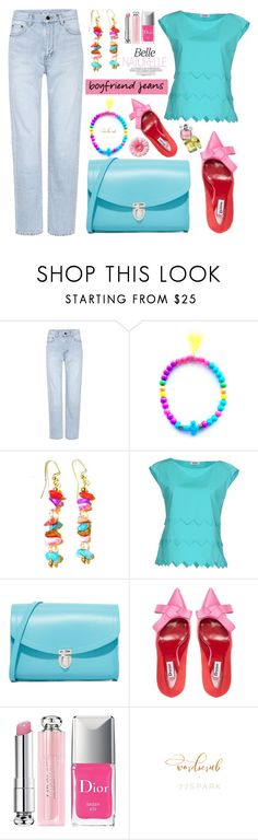 """Borrowed from the Boys: Boyfriend Jeans"" by samra-bv ❤ liked on Polyvore featuring Yves Saint Laurent, M Missoni, The Cambridge Satchel Company, Dune, Christian Dior, boyfriendjeans, contestentry, polyvoreset and shopjewelry"