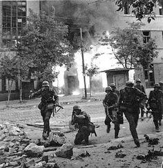 German soldiers street fighting. Eastern front 1941