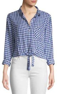 Rails Val Gingham Tie Front Shirt Gingham, Plaid, Tie, Shirts, Women, Fashion, Blouses, Moda, Fashion Styles