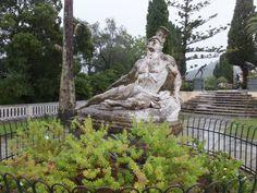 Korfu: sterbener Achill in Sissis Garten