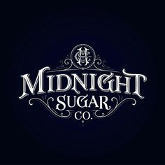 The final design for Midnight Sugar Co. by tobiassaul Vintage Typography, Typography Letters, Typography Logo, Graphic Design Typography, Lettering Design, Logo Branding, Vintage Logos, Typography Inspiration, Logo Design Inspiration
