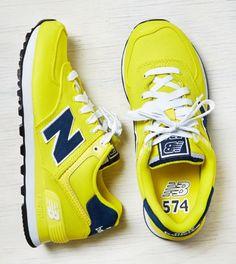 Yellow New Balance 574 Pique Polo Sneaker