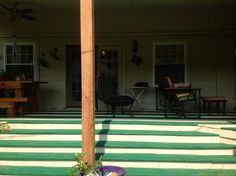 4: Steps of porch from yard.