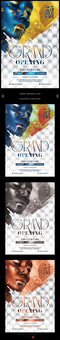 Grand Opening Flyer Flyers, Classy and Photoshop - grand opening flyer