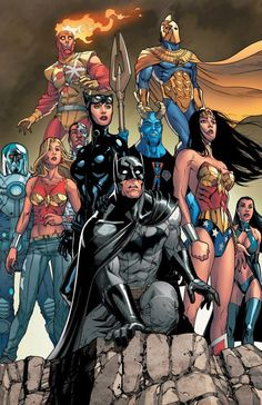 Drawing Dc Comics JLA by Mike S. Miller * - Visit to grab an amazing super hero shirt now on sale! Dc Comics Superheroes, Dc Comics Characters, Dc Comics Art, Marvel Dc Comics, Dc Comics Poster, Dc Heroes, Comic Book Heroes, Comic Books, Comic Art